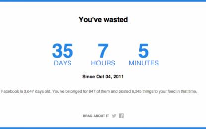 Quel temps avez-vous passé sur Facebook ?
