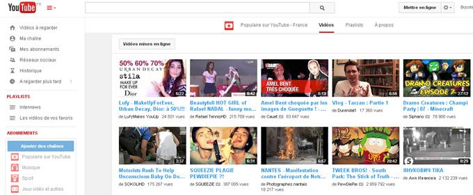 Utiliser youtube grosse recherche de l'adolescence